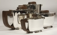 Service thé/café argent ART DECO par Christofle et Jean Tetard