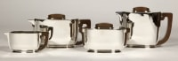 ART DECO silver tea / coffee service by Christofle and Jean Tetard