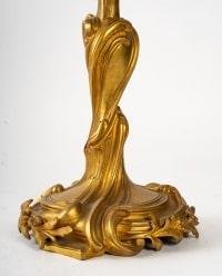 Belle Paire de candélabre style LXV fin XIXème siècle