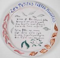 Assiettes en faïence peintes par Constantin Terechkovitch (1902 -1978) - céramique année 50