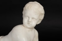 Sculpture en marbre du 19e siècle