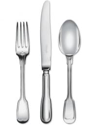 "Christofle Flatware ""Chinon"" Silverplated 103 pieces"