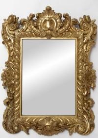Petit miroir en bois doré de style Régence, vers 1880