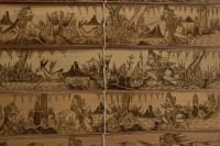 Pyrogravure indonésienne, XXème siècle.