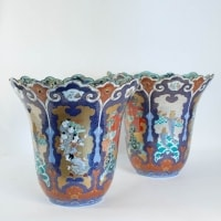 Important Pair Of Vases From Japan Signed Fuqukawa, Middle Of The Nineteenth Century