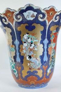 Importante Paire De Vases Du Japon Signés Fuqukawa, Milieu Du XIXème Siècle