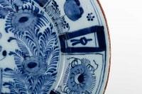 Plat bleu et blanc en porcelaine de DELFT 18e siècle