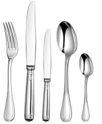 "Christofle ""Malmaison"", Set Flatware for 8 'Including 3 Serving Cutlery'"