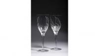 Marc Lalique Série de 8 Flutes à Champagne