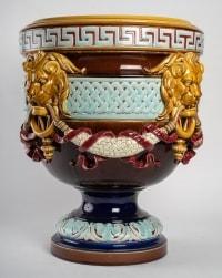 Cache-pot en céramique émaillé, XXème