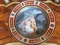 """Grand plat en porcelaine de Vienne """" le pôle nord"""". Réf: 263"""