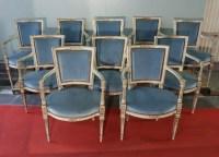 Série de dix fauteuils Italiens du XIX ème siècle