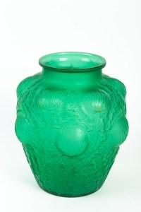 Vase « Domrémy » verre vert émeraude de René LALIQUE
