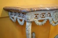 Console De Style Louis XV En Bois Peint Du XIX ème Siècle