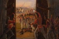 Tableau Attaque du château de Hougoumont (Bataille de Waterloo)