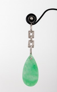 Ensemble de bijoux en Jade, Or et Diamants