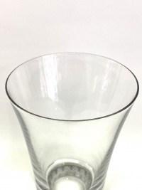 """Suite de Huit 8 Gobelets """"Reims"""" verre blanc patiné gris de René LALIQUE"""