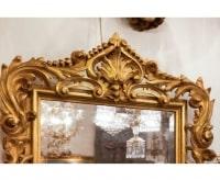 Miroir LXV bois doré