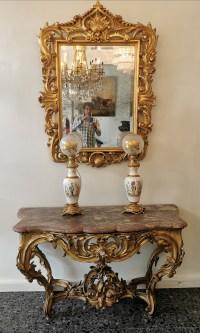 miroir doré 19ème
