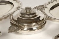 Set of dishes, vegetables and sauciers in silver by CARDEILHAC