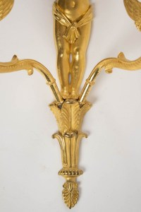 A Pair of 1st Empire period (1804 - 1815) wall lights.