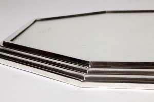 Orfèvre Jean E. PUIFORCAT - Surtout de table octogonale en argent - Art Déco
