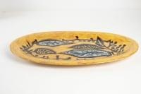 Jean Lurçat ( 1892 - 1966 ) - grand plat en faïence, céramique année 50.