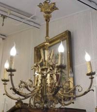 Lustre bronze doré (St Louis  XVl )