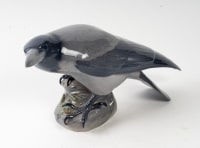 Corbeau et grenouille en porcelaine par royal Copenhague