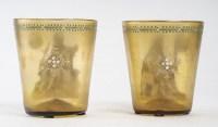 Paire de gobelets Fritz Heckert, 1890
