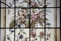 Vitraux Vitrail Aux Paniers Fleuris V109