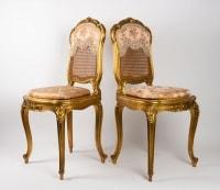 Paire de Chaises 19e siècle Napoléon III