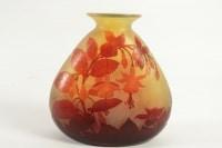 "Emile Gallé : Vase ""fushias"" Rouge et Jaune"