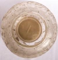 """Vase """"Monnaie du Pape"""" verre blanc patiné gris de René LALIQUE"""