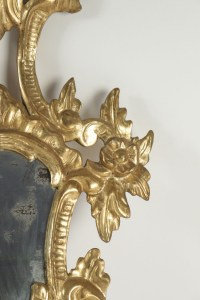 Pair of superior quality gold gilt wooden hand carved mirrors Napoleon III.