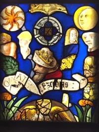 VITRAIL composé de vitraux du 16ème, 17ème et 19ème