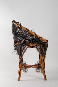 Chaise De l'Artiste Micki Chomicki, Rotin Et Fibre Syntétique