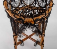 Chair Of The Artist Micki Chomicki, Rattan And Syntetic Fiber