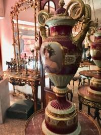 Grand vase de Vienne, en porcelaine, signé Wagner. Ref: 307.