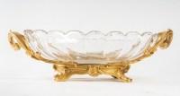 Coupe centre de table en cristal de Baccarat monture en bronze dorée