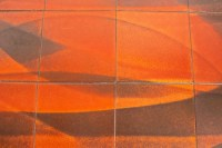Jacques Lignier - Table basse en faïence à décor abstrait. Vers 1960