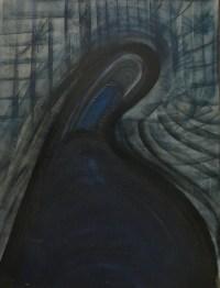 ALDINE Peinture contemporaine 20è siècle La Madone Huile sur toile signée