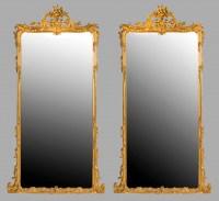 Grande paire de miroirs en bois doré / Pair of large mirrors gild wood