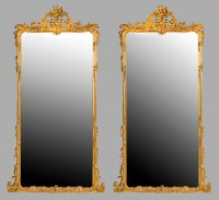 Grande paire de miroirs en bois doré / Pair of large mirrors gild wood