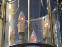 A Louis XVI style lantern, Napoleon III period (1848 - 1870).