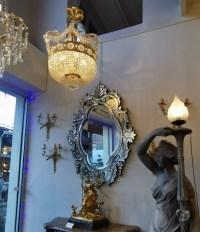 Lustre bronze 19eme - Antiquaire Puces Saint Ouen- Biron