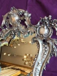 Miroir en bronze argenté. Réf: 371
