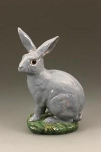 Lapin en faïence par Emile Gallé ( 1846 - 1904 ) - céramique art nouveau