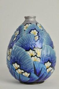 CAMILLE FAURÉ (LIMOGES, 1874 - 1956) :  Vase Emaillé