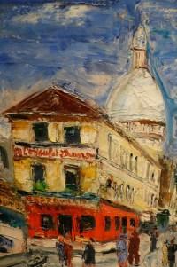Genin Lucien Peinture 20è Paris Montmartre Rue Norvins Tableau XXème Huile Sur Toile Signée